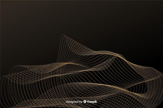 Абстрактные золотые частицы чистый фон Бесплатные векторы
