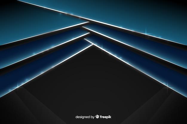 Абстрактный блестящий металлический синий фон Бесплатные векторы