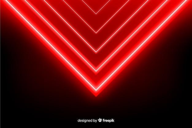 幾何学的な赤灯背景現実的なスタイル 無料ベクター