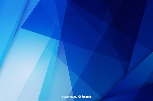 青い図形と抽象的な背景 無料ベクター