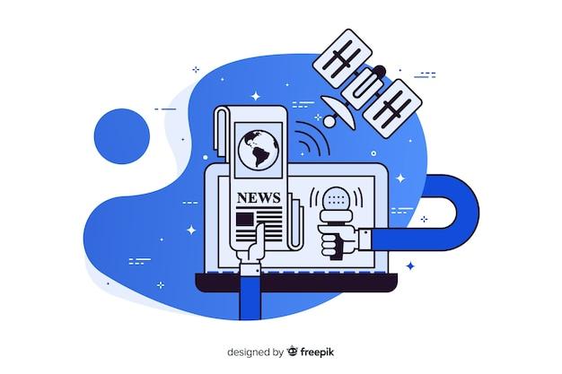 ランディングページのニュースコンセプト 無料ベクター