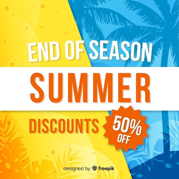 Конец летних распродаж Бесплатные векторы