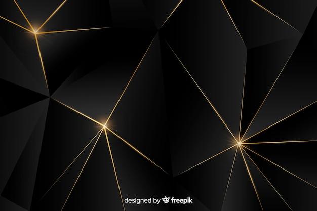 Роскошный фон с золотыми абстрактными формами Бесплатные векторы