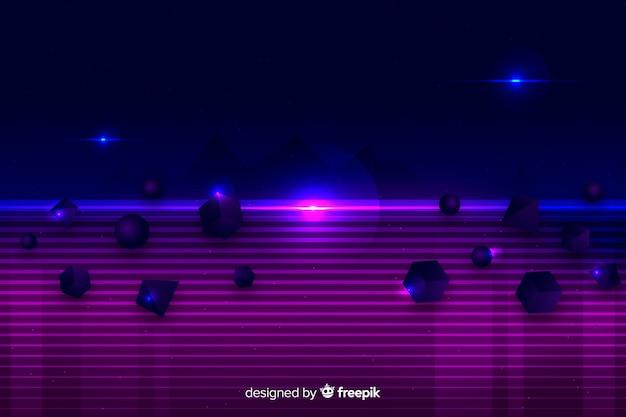 Восьмидесятые геометрические фигуры декоративный фон Бесплатные векторы