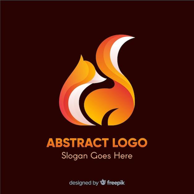 抽象的な形のロゴのテンプレート 無料ベクター