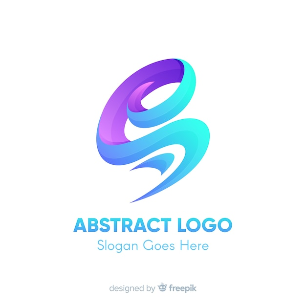 Шаблон логотипа с абстрактными формами Бесплатные векторы