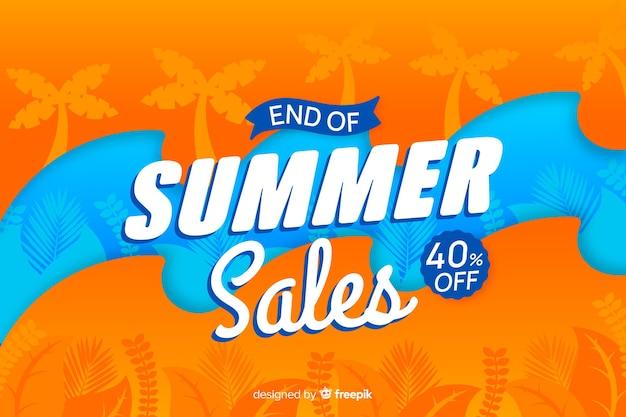 夏の終わりの販売の背景 無料ベクター