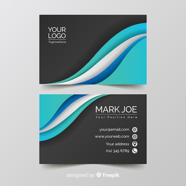 Шаблон визитной карточки с абстрактными формами Бесплатные векторы