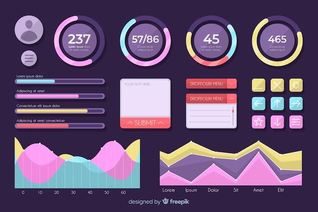 改善を測定するためのインフォグラフィックスケール 無料ベクター