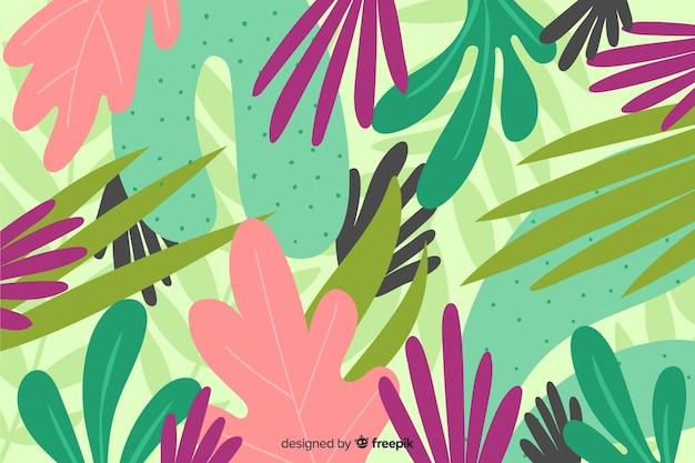 創造的な手描きの花の背景 無料ベクター