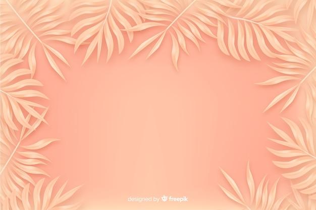 Оранжевый монохромный фон с листьями Бесплатные векторы