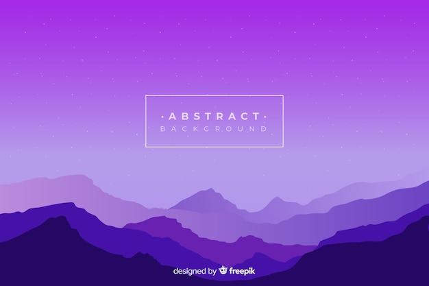 Фиолетовый градиент горы пейзажный фон Бесплатные векторы