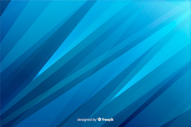 抽象的な青い図形の背景 無料ベクター