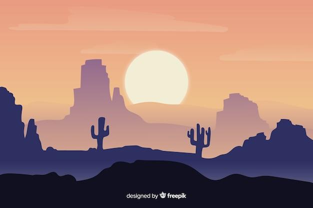 Градиент пустынный ландшафтный фон Бесплатные векторы