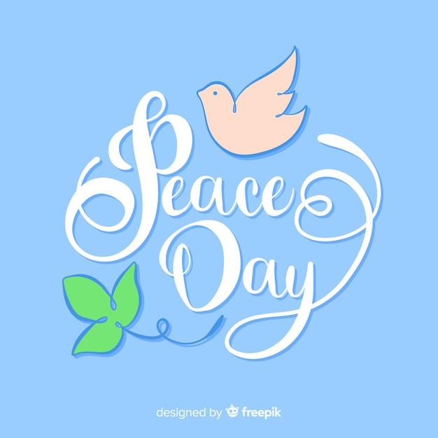Празднование дня мира Бесплатные векторы