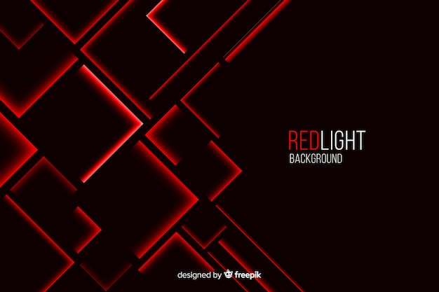 黒の背景に赤の四角形のライトを構築 無料ベクター