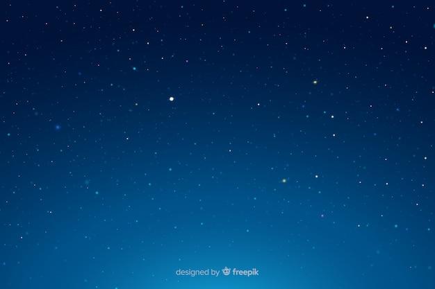 Звездная ночь градиент голубого неба Бесплатные векторы