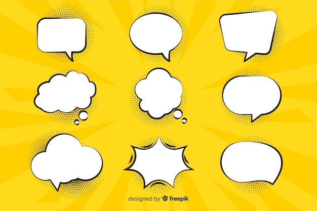Комическая речь и диалоги пузыри Бесплатные векторы