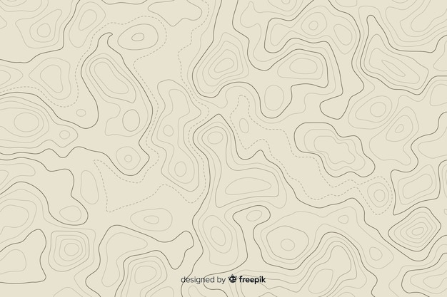 Многочисленные запутанные топографические линии Бесплатные векторы