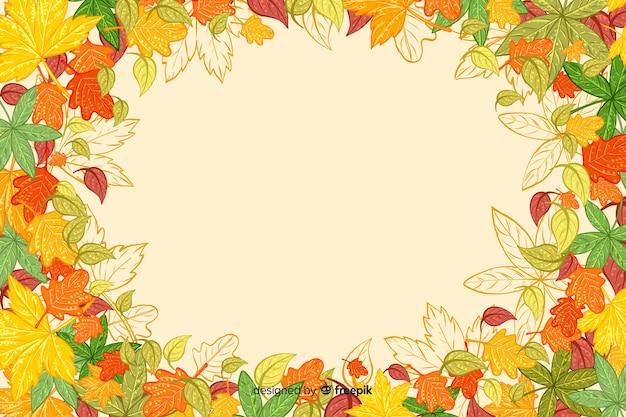 手描き秋の背景 無料ベクター
