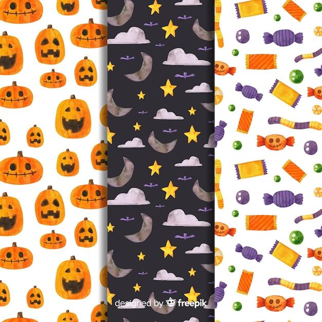 お菓子と装飾パターンのコレクション 無料ベクター