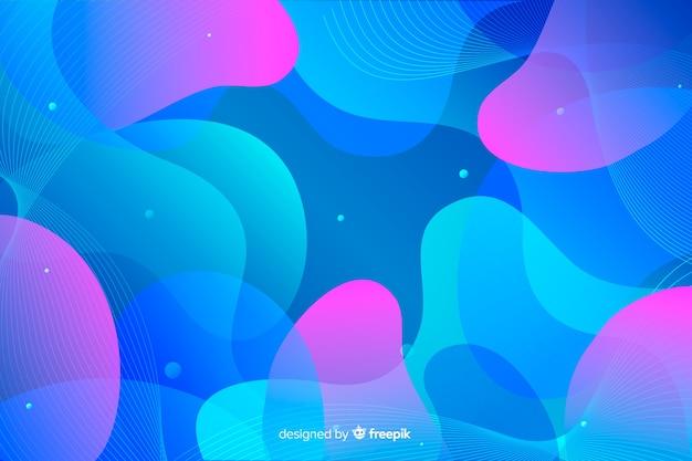 Красочные волнистые формы фона Бесплатные векторы