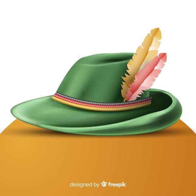 現実的な伝統的なオクトーバーフェスト帽子 無料ベクター