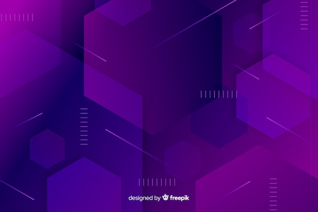 紫色の立方体の幾何学的な背景 無料ベクター