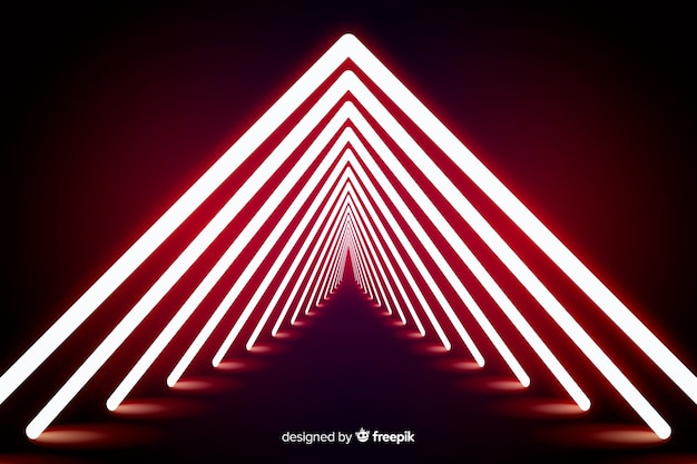 幾何学的な赤い光のアーチの背景 無料ベクター