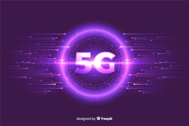 Фиолетовый пузырь с высокоскоростными линиями усиления Бесплатные векторы
