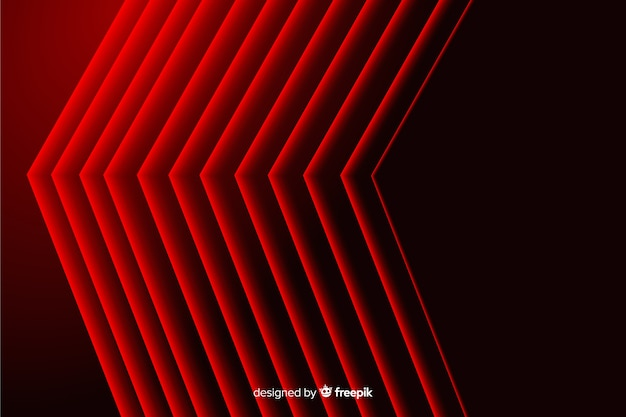 モダンな抽象的な赤い先のとがった線の幾何学的な背景 無料ベクター