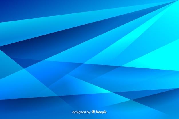 さまざまな青い線と影の背景 無料ベクター