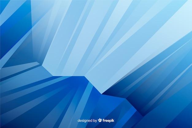 抽象的な水彩画の青い図形の背景 無料ベクター
