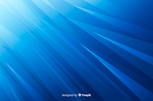 グラデーションのシャープなライン抽象的なブルーの背景 無料ベクター