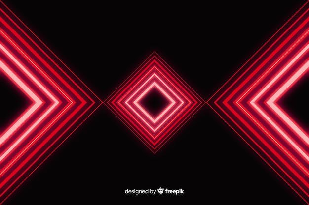 幾何学的な赤いライトの背景 無料ベクター