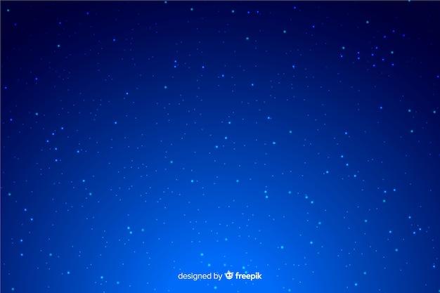 Синий градиентный фон звездной ночи Бесплатные векторы