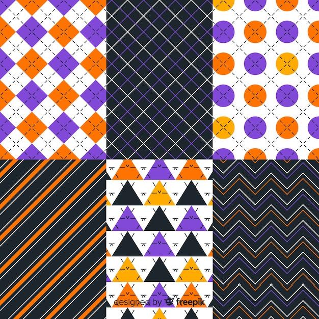 Коллекция геометрических хэллоуин в прямоугольных сечениях Бесплатные векторы