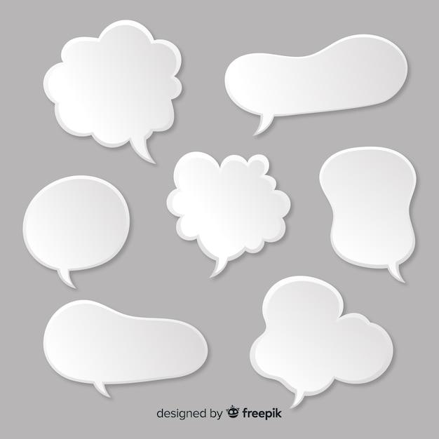 Набор речевых пузырей в стиле комиксов Бесплатные векторы