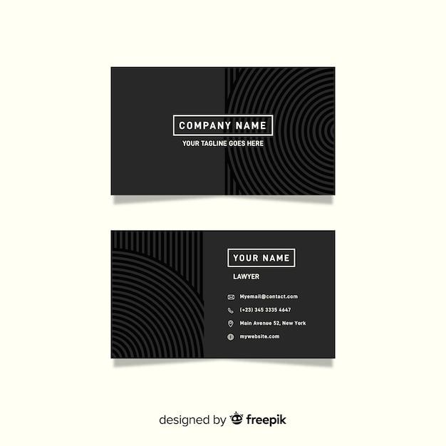 Минималистский серый шаблон визитной карточки Бесплатные векторы
