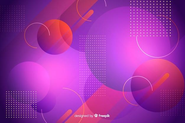 要素の背景を持つ幾何学的なデザイン 無料ベクター