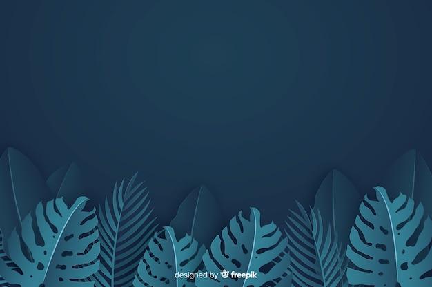紙のスタイルで背景モンステラ植物 無料ベクター