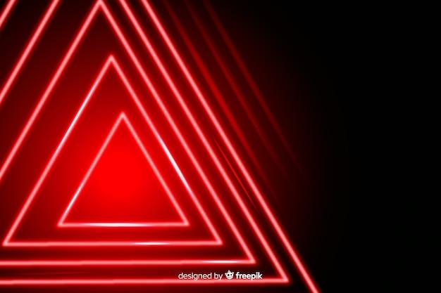 赤信号の背景の幾何学的設計 無料ベクター