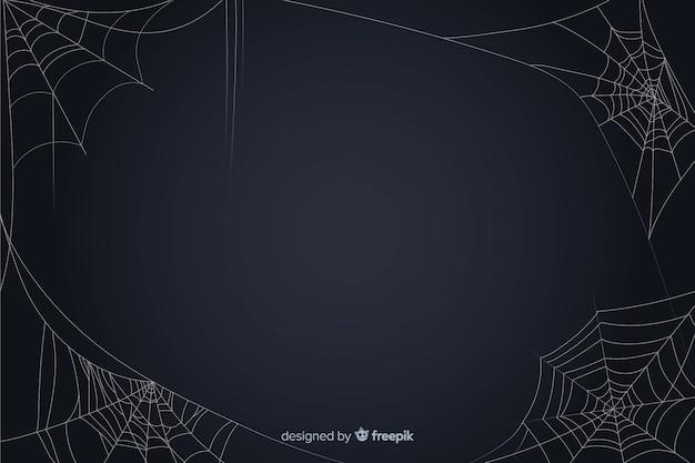 Хэллоуин паутина фон Бесплатные векторы