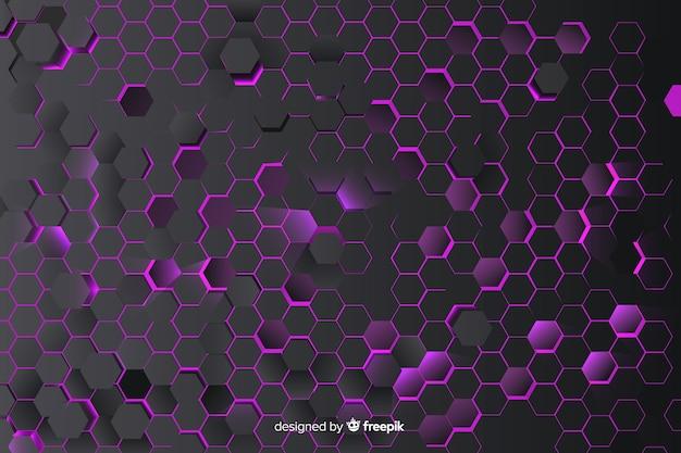 紫色のハニカムの背景 無料ベクター