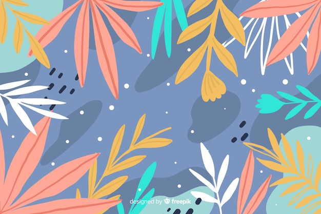 手描き抽象花スタイル 無料ベクター