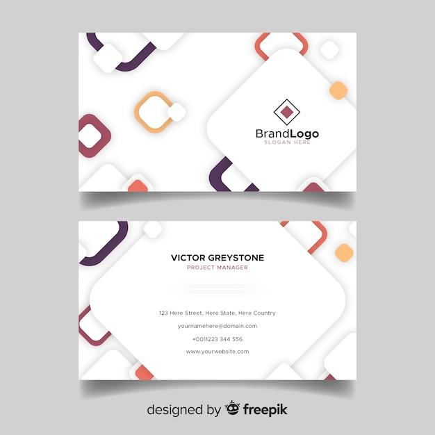 Абстрактная белая визитная карточка с логотипом Бесплатные векторы