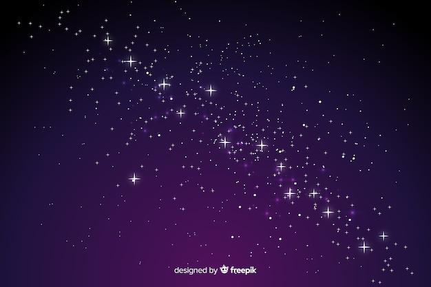 グラデーション星空夜背景 無料ベクター