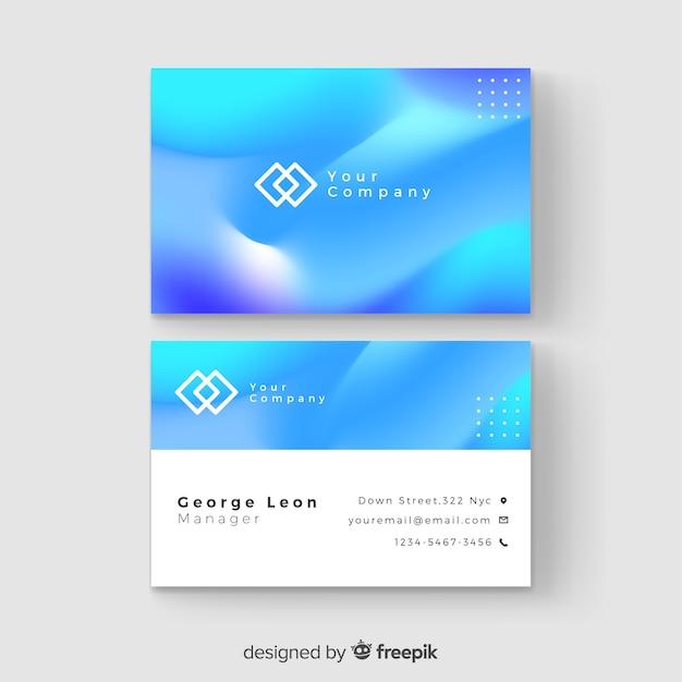 Шаблон градиентной визитки Бесплатные векторы
