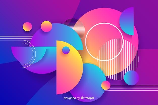 Градиент геометрических круглой формы фон Бесплатные векторы