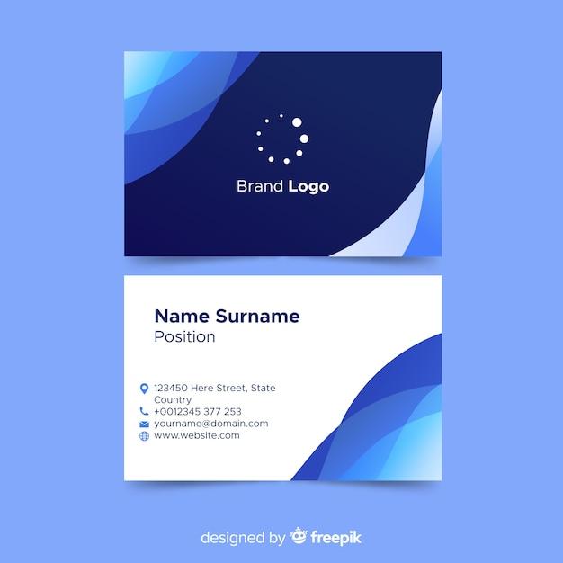 Абстрактный шаблон визитной карточки с логотипом Бесплатные векторы